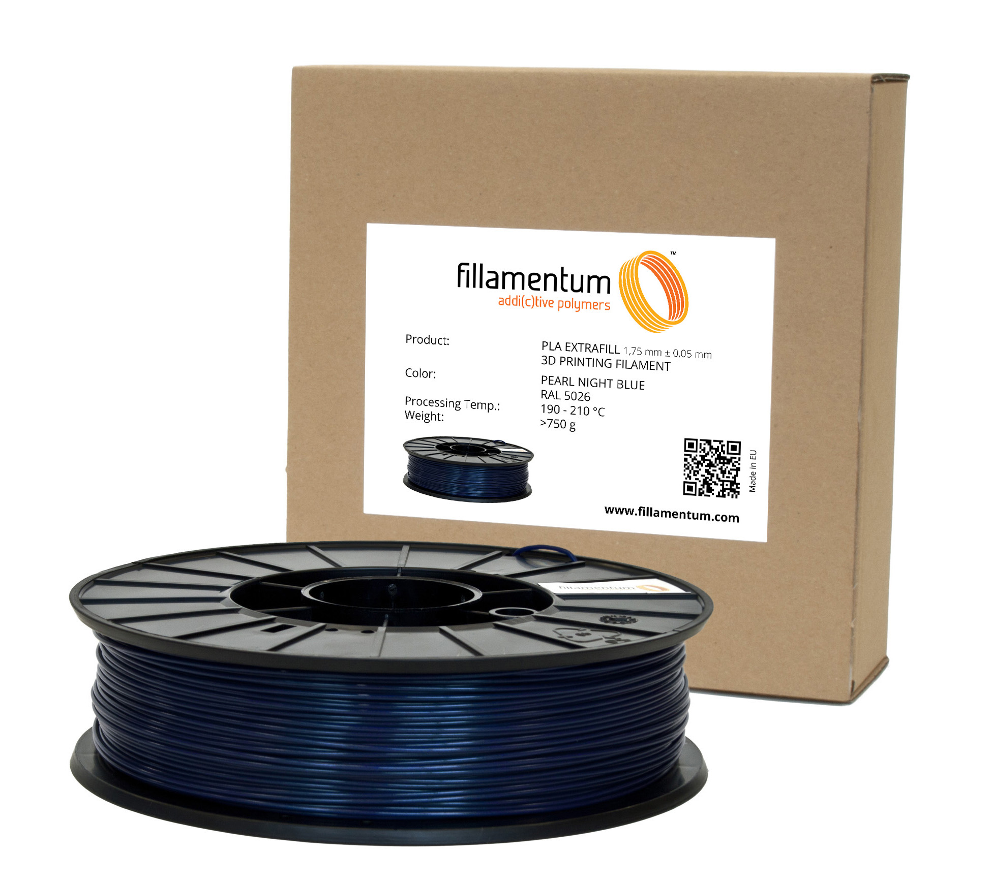Fillamentum PLA 1,75mm Pearl Night Blue
