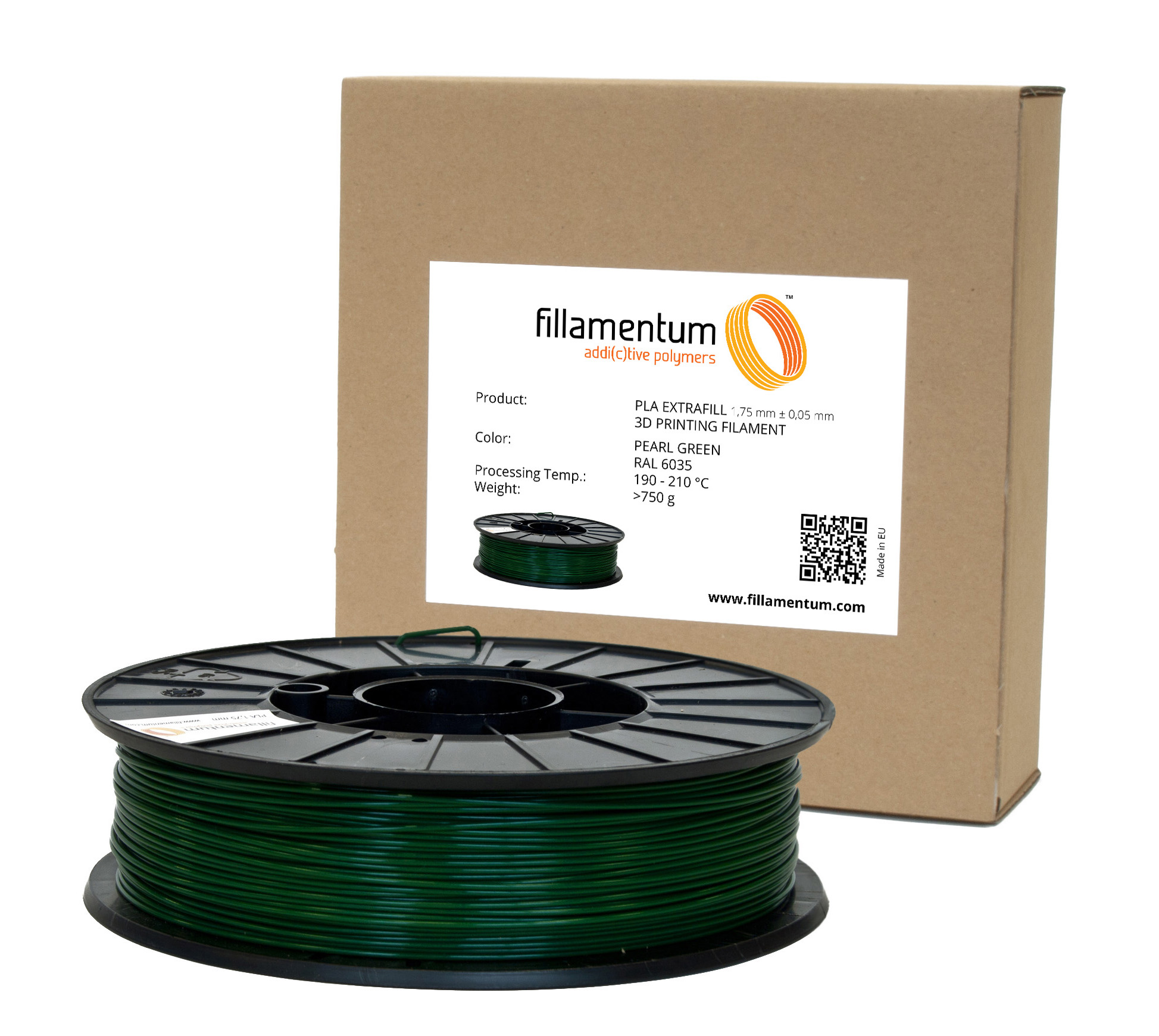 Fillamentum PLA 1,75mm Pearl Green