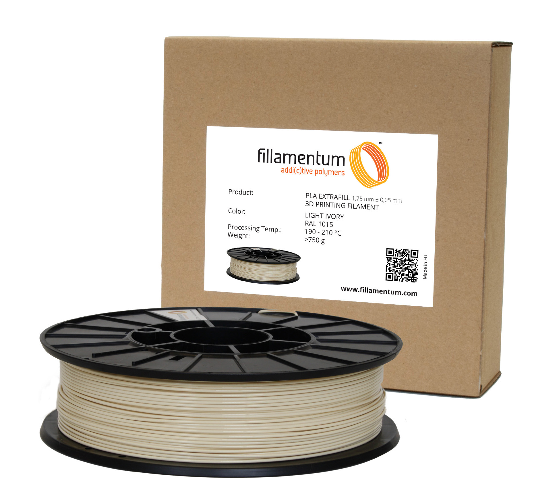 Fillamentum PLA 1,75mm Light Ivory RAL 1015
