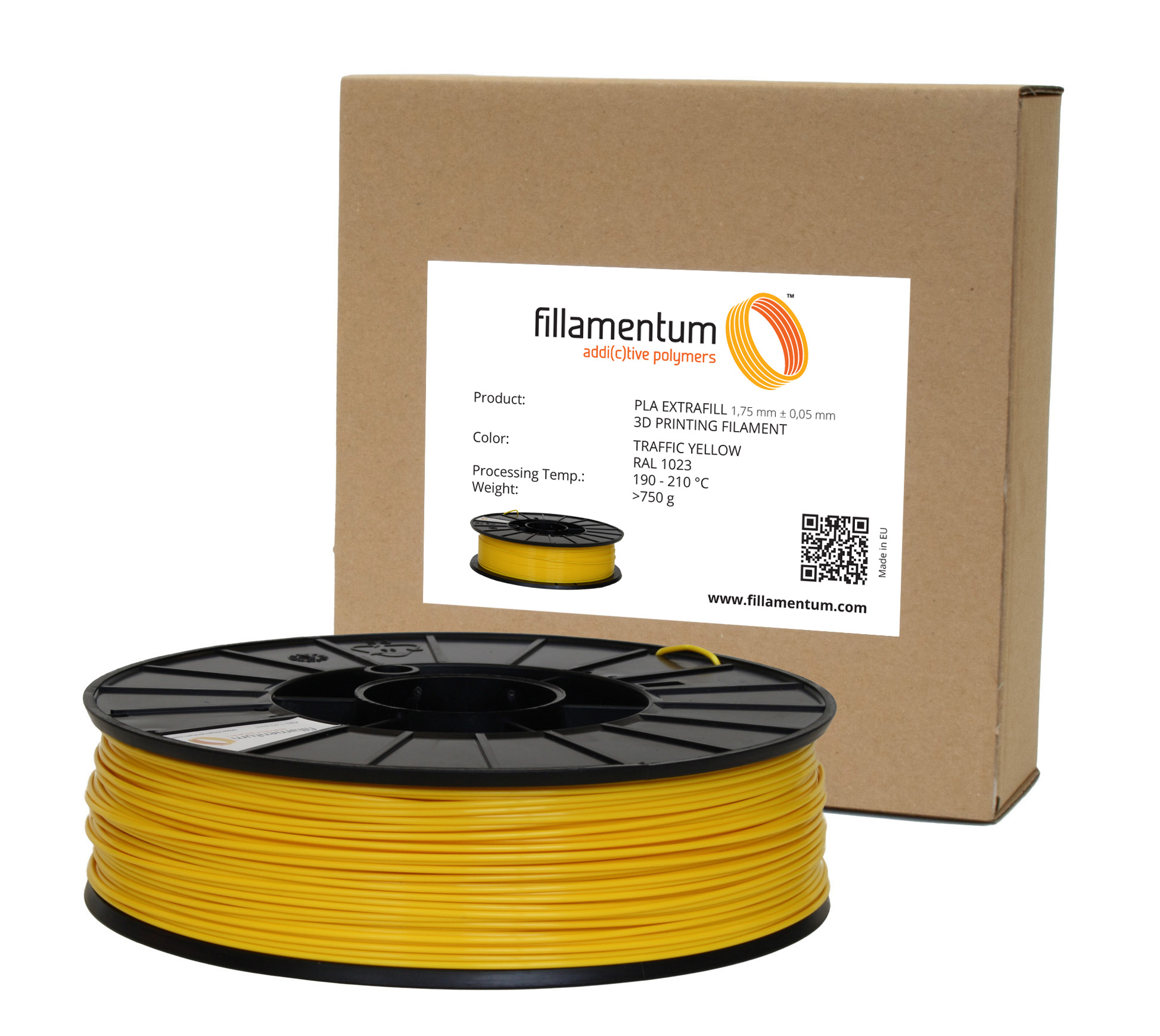 Fillamentum PLA 1,75mm Traffic Yellow Ral 1023